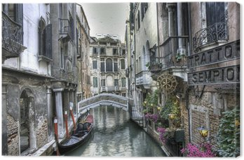Tableau sur Toile Gondel, Palazzi und Brücke, Venedig, Italien