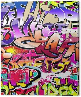 Tableau sur Toile Graffiti de fond sans soudure. Art urbain hip-hop