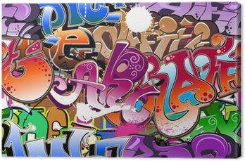 Tableau sur Toile Graffiti fond transparent