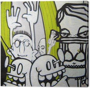 Tableau sur Toile Graffiti - freaks helmi