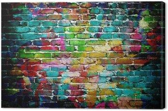 Tableau sur Toile Graffiti mur de brique