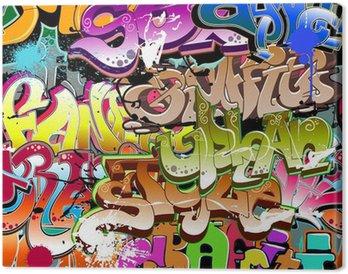 Tableau sur Toile Graffiti seamless. Texture art urbain