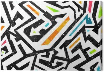 Tableau sur Toile Graffiti - seamless