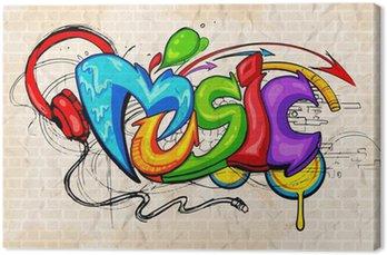 Tableau sur Toile Graffiti style Musique de fond