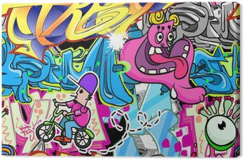 Tableau sur Toile Graffiti Urban Vector Background Art