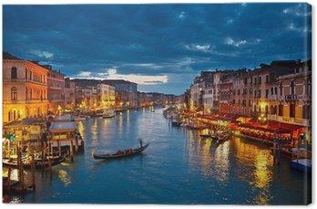 Tableau sur Toile Grand Canal pendant la nuit, Venise