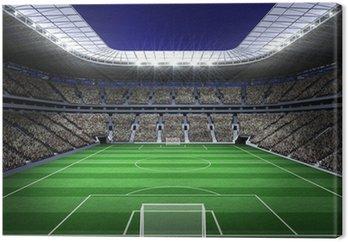 Tableau sur Toile Grand stade de football avec des lumières