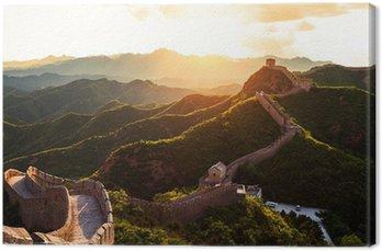 Tableau sur Toile Grande muraille sous le soleil au coucher du soleil