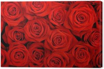 Tableau sur Toile Gros bouquet de roses rouges
