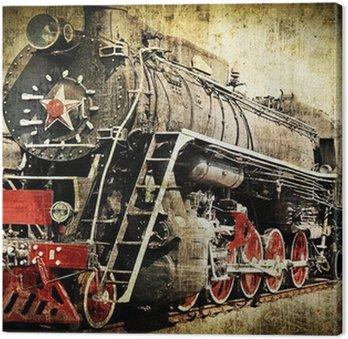 Tableau sur Toile Grunge locomotive à vapeur