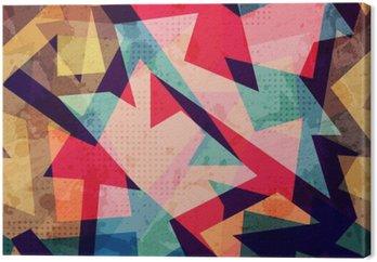 Tableau sur Toile Grunge motif géométrique parfaite