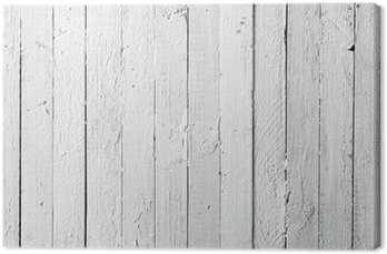 Tableau sur Toile Grunge peinte en blanc planche en bois