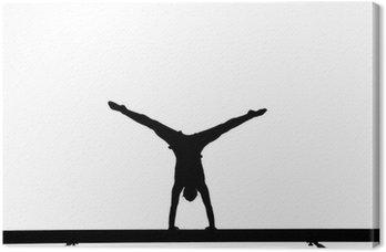 Tableau sur Toile Gymnaste à la poutre