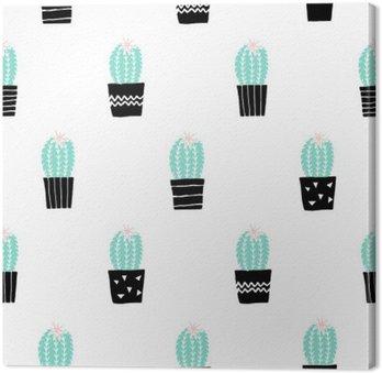 Tableau sur Toile Hand Drawn Cactus Motif