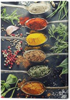 Tableau sur Toile Herbes et épices sélection