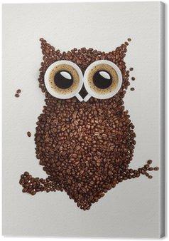 Tableau sur Toile Hibou de café.