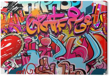 Tableau sur Toile Hip-hop graffiti fond d'art urbain