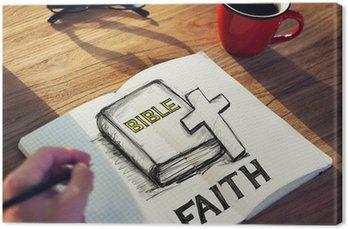 Tableau sur Toile Homme avec une note et foi Concept