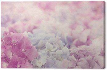 Tableau sur Toile Hortensia rose fleurs