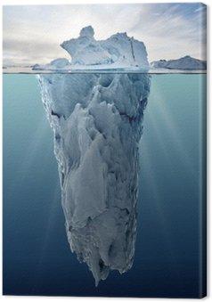 Tableau sur Toile Iceberg avec vue sous-marine