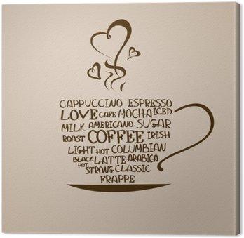 Tableau sur Toile Icône isolé tasse de café