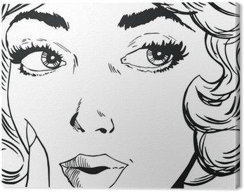 Tableau sur Toile Illustration d'un visage de femme