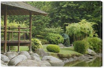 Tableau sur Toile Jardin verdoyant Oriental