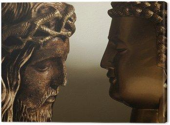 Tableau sur Toile Jésus Christ y Buda - 3