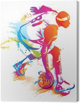 Tableau sur Toile Joueur de basket-ball. Vector illustration.