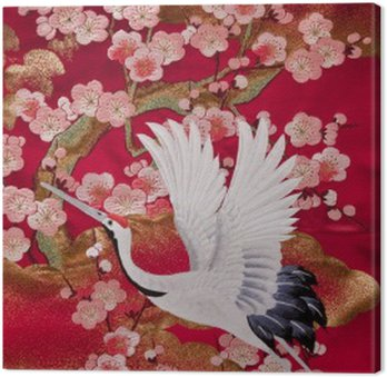Tableau sur Toile Kimono 鹤