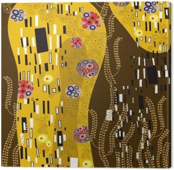 Tableau sur Toile Klimt inspiré l'art abstrait