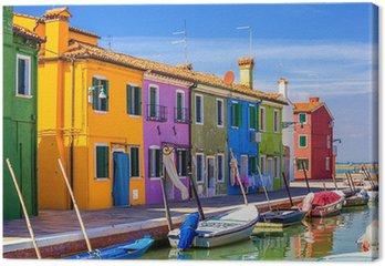 Tableau sur Toile L'architecture de l'île de Burano. Venise. Italie.