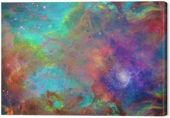 Tableau sur Toile L'espace galactique