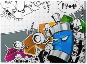 Tableau sur Toile L'image de graffiti étrange peut