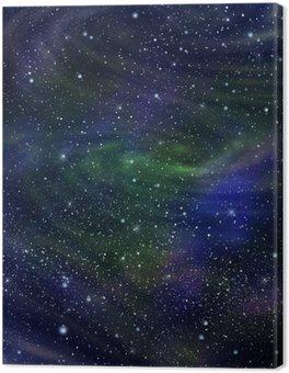 Tableau sur Toile L'image de la galaxie de l'espace, illustration