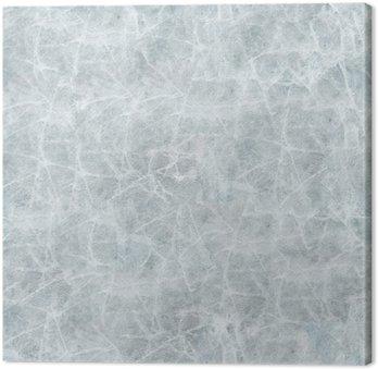 Tableau sur Toile La couverture de glace de texture transparente.