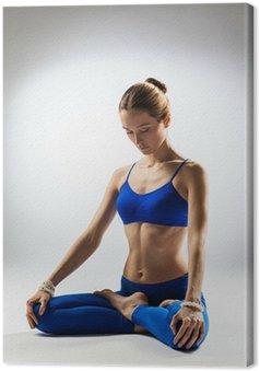 Tableau sur Toile La femme de yoga