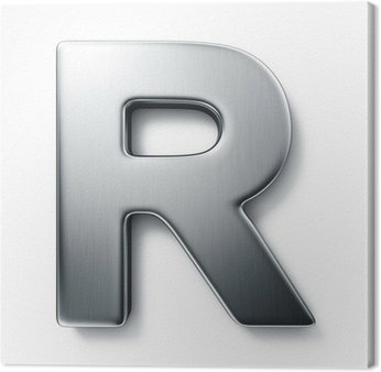 Tableau sur Toile La lettre R