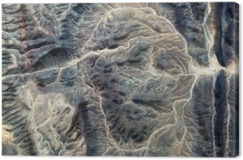 Tableau sur Toile La momie, des paysages abstraits de déserts de l'Afrique, visage de pierre, résumé photographie déserts de l'Afrique de l'air, le surréalisme abstrait, mirage dans le désert, la fantaisie de la pierre, l'expressionnisme abstrait