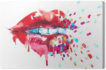 Tableau sur Toile Lèvres