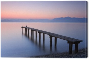 Tableau sur Toile Lac Léman, Suisse
