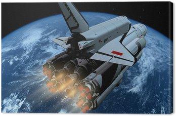 Tableau sur Toile Le vaisseau spatial
