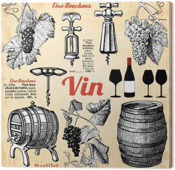 Tableau sur Toile Le vin