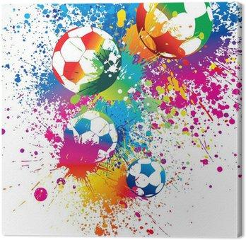 Tableau sur Toile Les ballons colorés sur un fond blanc