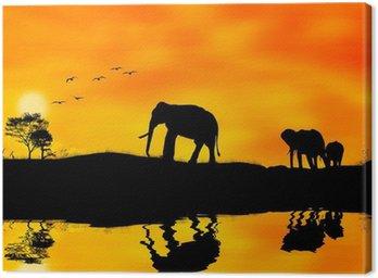 Tableau sur Toile Les éléphants d'Afrique