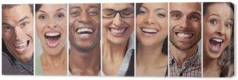Tableau sur Toile Les gens heureux visages ensemble