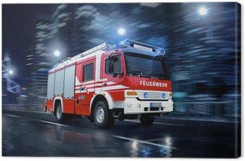 Tableau sur Toile Les pompiers en action