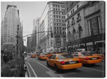 Tableau sur Toile Les taxis à Manhattan