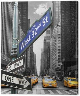 Tableau sur Toile Les taxis à New York.