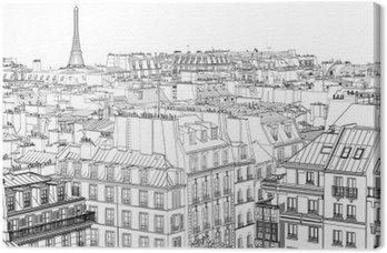 Tableau sur Toile Les toits de Paris